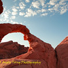 Valley of Fire near LV, Sunrise at Arch Rock