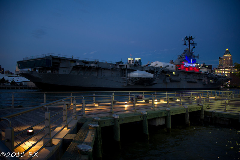 Aug 29 2011 (West side, Intrepid Museum)