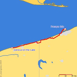<h2>Friday, September 2, 2005<br> Presque Isle State Park (Erie, PA) - Geneva-on-the-Lake, OH</h2>