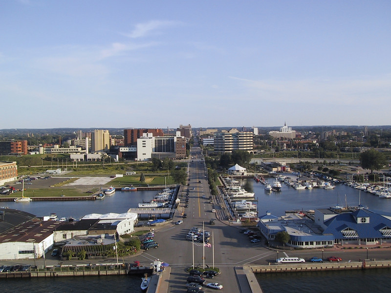 Downtown Erie seen from Bicentennial Tower.