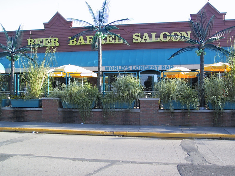 "Put-In-Bay is home to the <a href=""http://www.beerbarrelpib.com/"">Beer Barrel Saloon</a>, home to the world's longest bar (405 feet, 10 inches)."
