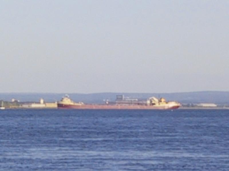 A freighter on the Niagara River.