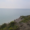"Looking out across Lake Erie from ""Hawk Cliff,"" a popular birdwatching spot."