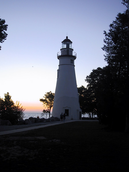 """<a href=""""http://www.dnr.state.oh.us/parks/parks/marblehead.htm"""">Marblehead Lighthouse</a> at dawn."""