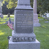 Walking north along the main road of Kelley's Island, I came to a cemetery which included the grave of Datus Kelley, one of two brothers who settled the island and for whom the island is named.