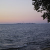 Cedar Point seen from Marblehead Lighthouse State Park, in the morning twilight.