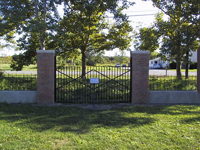 Original gates to the first Cedar Point road.
