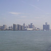 View of downtown Detroit, seen from Centennial Park in Windsor.