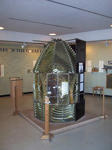 Second-order Fresnel lens, from a Lake Huron lighthouse.  Second order is the second-largest size (out of six orders), and the largest used in Great Lakes lighthouses.