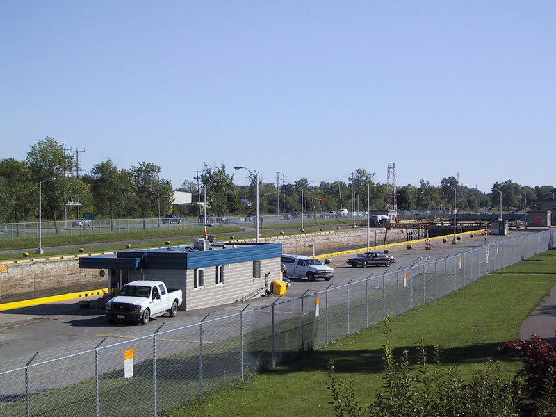 The Welland Canal connects Lake Erie with Lake Ontario, allowing ships to bypass Niagara falls.