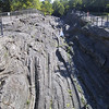 Glacial grooves such as these once covered most of the island, but many of them were destroyed by mining activities.