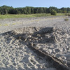 "At <a href=""http://www.dnr.state.oh.us/PARKS/parks/headlnds.htm"">Headlands Beach State Park</a>, someone had built a very extensive sand castle."