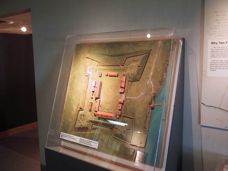 Model showing the layout of Fort Malden.
