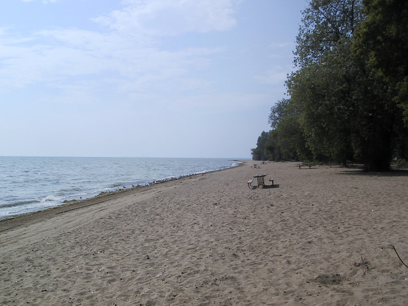 "Beach at <a href=""http://www.pc.gc.ca/pn-np/on/pelee/index_E.asp"">Point Pelee National Park</a>."