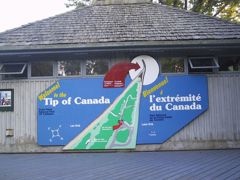 Point Pelee is the southernmost point in mainland Canada.  A few Canadian islands in Lake Erie are further south.
