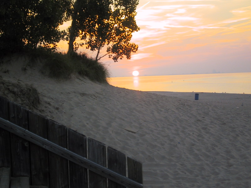 "I arrived at the West Beach of <a href=""http://www.nps.gov/indu/"">Indiana Dunes National Lakeshore</a> just in time for sunset."