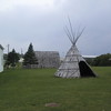 Tipi outside the Museum of Ojibwa Culture