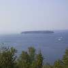 An island in Green Bay, seen from Peninsula State Park.