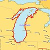 "I drove around Lake Michigan from September 2nd through the 8th, 2004.  <br><br>  <b>Copyright:</b> All <u>photographs</u> in this gallery are Copyright © 2004 Charles E. Carroll, with all rights reserved unless otherwise indicated on individual photos.  All <u>maps</u> (such as this one) belong to <a href=""http://www.planiglobe.com/"">planiglobe</a> and are used in accordance with their license."
