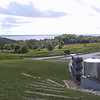The northwestern Lower Peninsula has many wineries; here is one of the vineyards on Old Mission Peninsula.  The Old Mission Peninsula splits Grand Traverse Bay down the middle, and East Grand Traverse Bay can be seen in the distance in this picture.