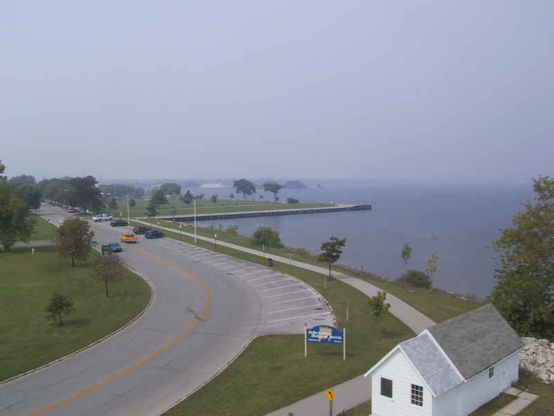 View from the top of Sand Point Lighthouse