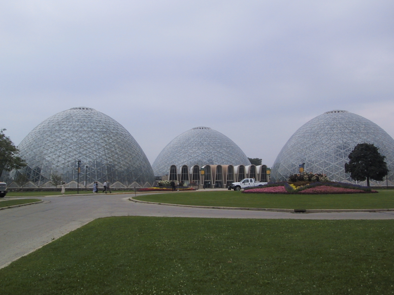 """These are the domes of the <a href=""""http://www.county.milwaukee.gov/display/router.asp?docid=10116"""">Mitchell Park Horticultural Conservatory</a> in Milwaukee."""