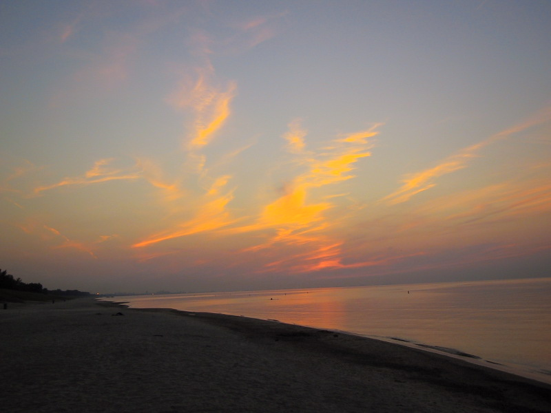 Just after sunset at Indiana Dunes National Lakeshore