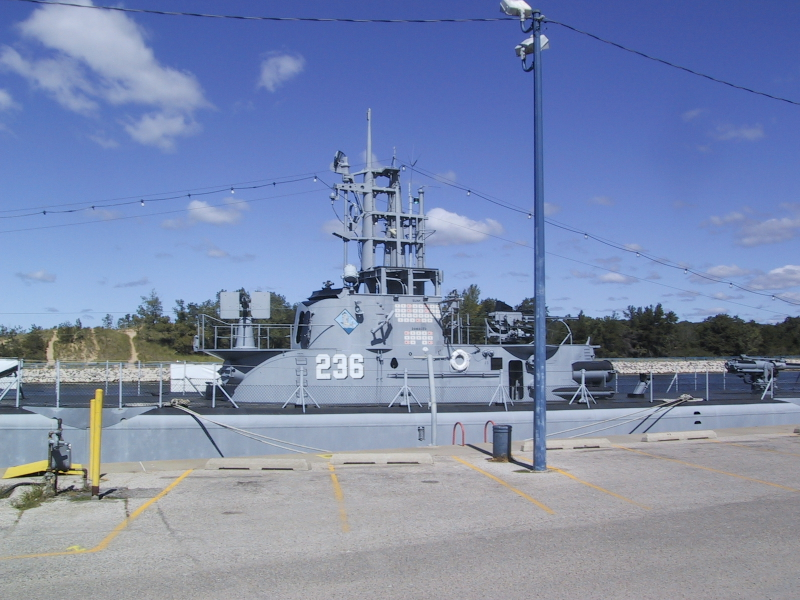 "The U.S.S. Silversides, a World War II-era submarine, at the <a href=""http://www.silversides.org/"">Great Lakes Naval Memorial & Museum</a> in Muskegon, MI."