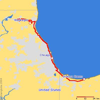 <h2>Thursday, September 2, 2004<br> Indiana Dunes National Lakeshore - Waukegan, IL</h2>