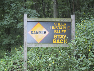 Yeah, sure.  Hard to do when the trail goes right along the edge of the bluff, due to the rapid rate of erosion.