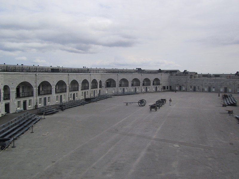 Parade ground at Fort Henry