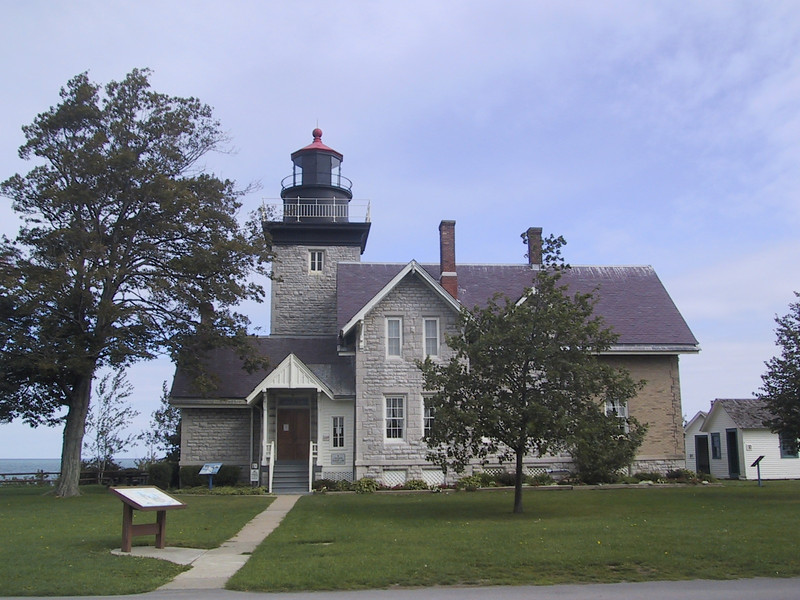 """Thirty-Mile Point Lighthouse in <a href=""""http://nysparks.state.ny.us/parks/143/details.aspx"""">Golden Hill State Park</a>"""