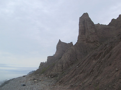 More of the seemingly impossibly steep sand and clay formations