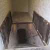 Stairs leading underground to a casemate from which the dry ditch could be defended