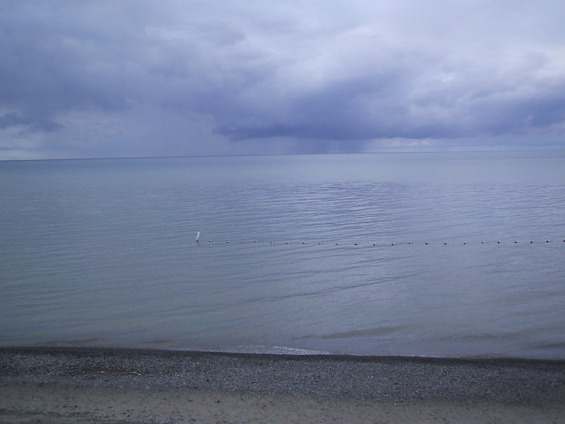 """First view of Lake Ontario, from a beach at <a href=""""http://nysparks.state.ny.us/parks/69/details.aspx"""">Wilson-Tuscarora State Park</a>"""
