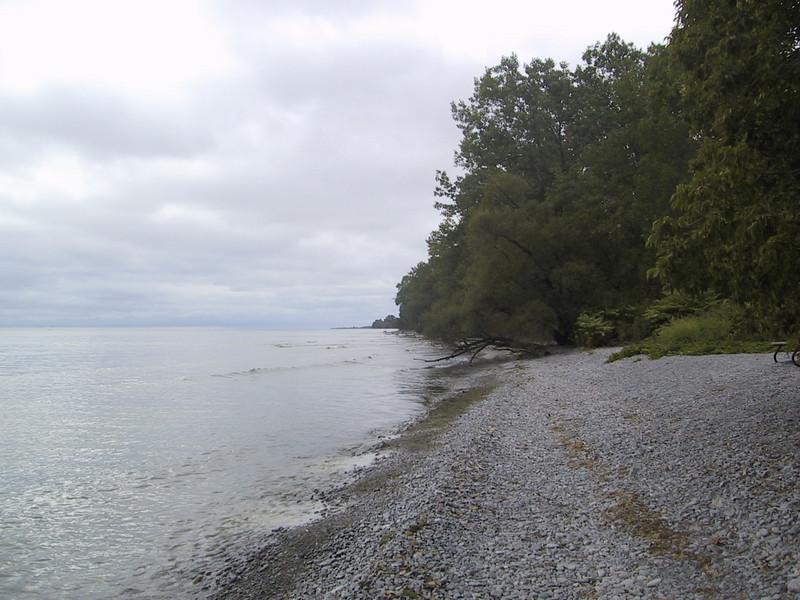 View along the shore from Presqu'ile Provincial Park