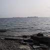 "Rocky shore at <a href=""http://www.cataraquiregion.on.ca/lands/lemoine.htm"">Lemoine Point Conservation Area</a>"