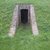Entrance to one of the rooms built into the earthworks at Fort Mississauga.