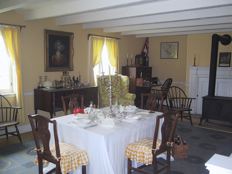 Dining room on the grounds of Fort George.