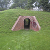 Tunnel through the earthworks at Fort Mississauga.