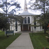 The unusual St. Vincent de Paul Church in Niagara-on-the-Lake, Ontario. <p> That evening, I saw <i>Arms and the Man</i> at the Shaw Festival Theatre, as part of the town's annual Shaw Festival.