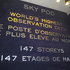 Sign marking the SkyPod as the world's highest obersvation deck (at the time - it was surpassed in 2008 by the observation deck in the Shanghai World Financial center).