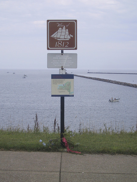 Sign commemorating the War of 1812 at Fort Ontario, in Oswego, NY