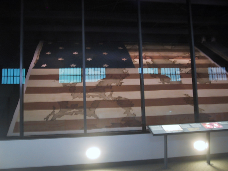 Flag which once flew over Fort Niagara in the museum there.