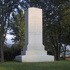 Monument in Sackets Harbor Battlefield.