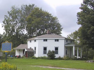 Hexagon-shaped house west of Lakeside, NY
