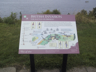 Sign describing the Battle of Oswego during the War of 1812
