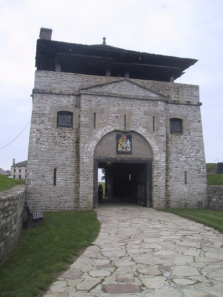 Entrance to Fort Niagara, which stands on the American side of the Niagara River, across from Fort George.  Since its construction in 1726, the Fort was held by (in order) the French, British, Americans, British, and Americans.