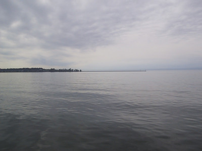 Looking west from a breakwall at Fair Haven Beach State Park