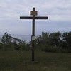 Replica of a cross erected by French forces after defeating the British in the area during the French and Indian War